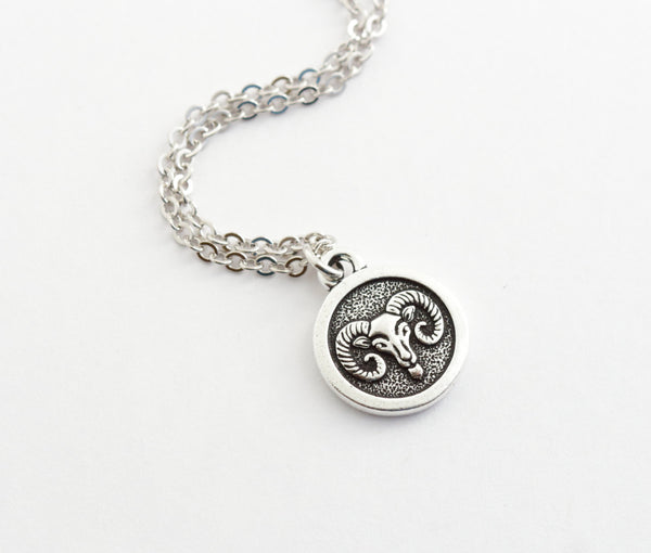 Silver Aries Necklace