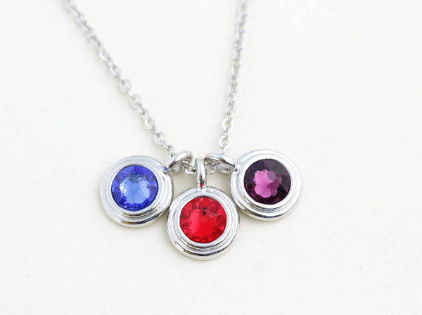 Birthstone Necklace - 1, 2, 3 or 4 stones