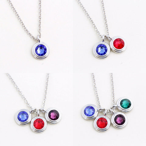 Birthstone Necklace - 1, 2, 3 or 4 stones - Jacaranda