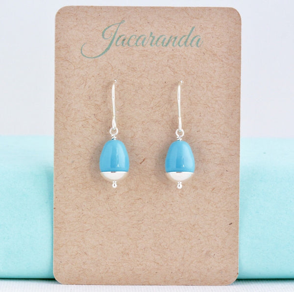 Sky Blue Sterling Silver Dangle Earrings - Jacaranda