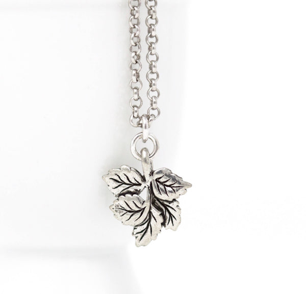 Silver Leaf Necklace - Jacaranda