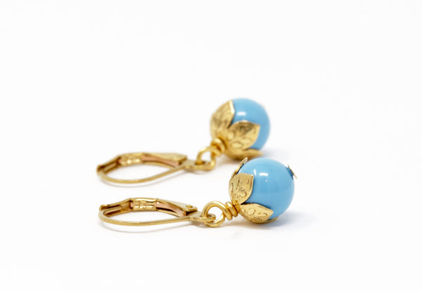 Dainty Blue Drop Earrings - Jacaranda