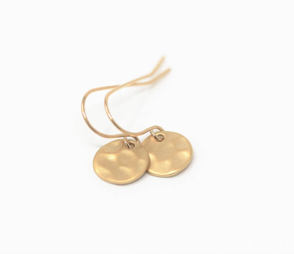 Stocking Stuffer - Gift For Her - Small Gold Earrings - Golden Earrings - Gift For Woman - Sweet Jewelry - Lightweight Jewelry - Jacaranda