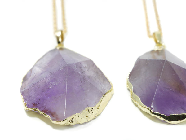 Large Amethyst Necklace - Jacaranda