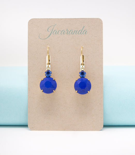 Opaque Monaco Blue Jewel Dangle Earrings - Jacaranda