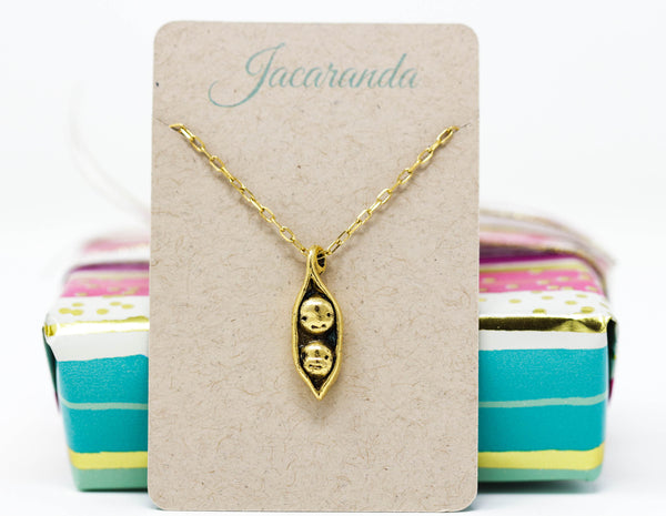 Two Peas in a Pod Pendant Necklace - Jacaranda
