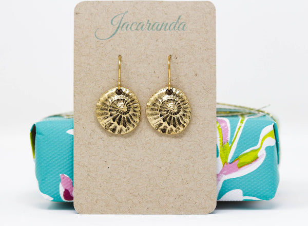 Brass Shell Earrings - Jacaranda