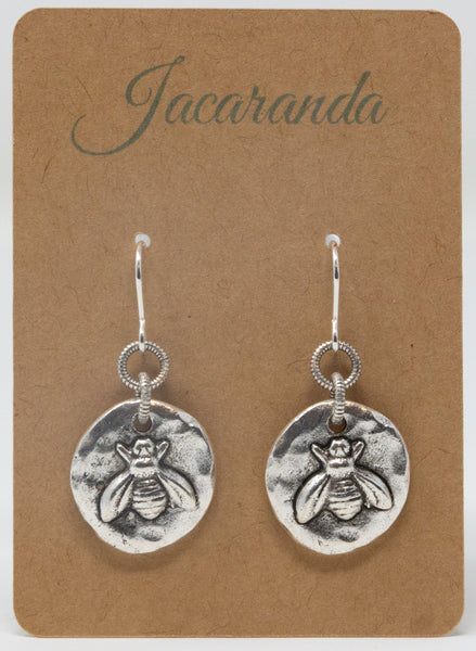Silver Bee Jewelry Gift Set - Necklace and Matching Earrings - Gift For Mothers Day From Daughter - Jacaranda