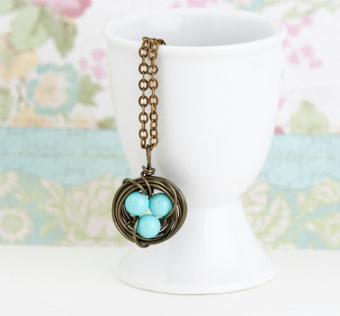 Bird Nest Necklace - Jacaranda