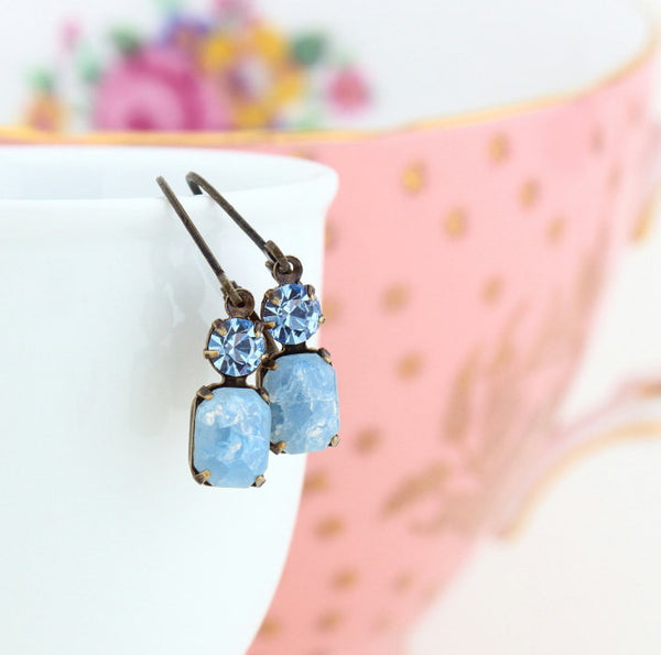 Denim Blue Vintage Jewel Earrings - Jacaranda