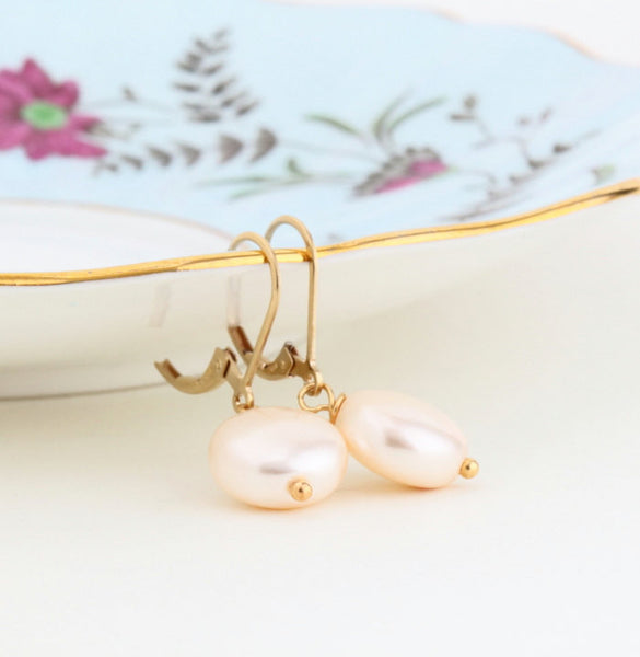 Classic Pearl Drop Earrings - Jacaranda
