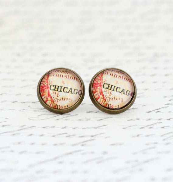 Chicago Earrings Post Earrings - Jacaranda