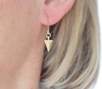 Gold Arrowhead Earrings - Jacaranda