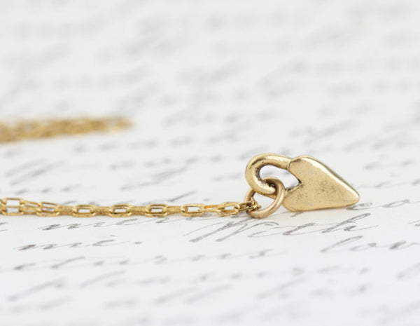 Gold Heart Necklace - Jacaranda