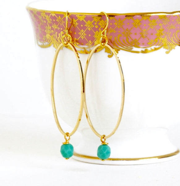 Oval Hoop Earrings - Jacaranda