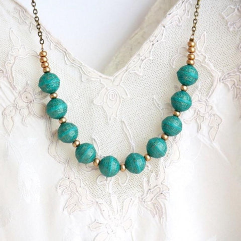 Turquoise Beaded Necklace - Jacaranda