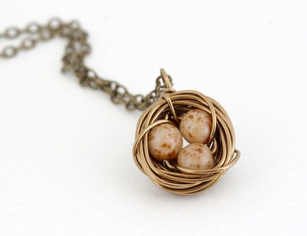 Rustic Nest Necklace - Jacaranda