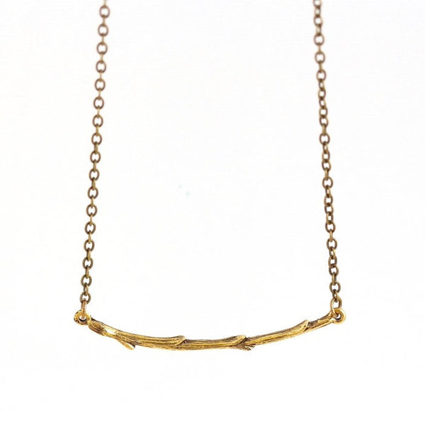 Gold Branch Bar Necklace - Jacaranda