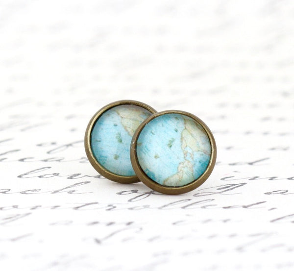 World Map Earrings - Jacaranda