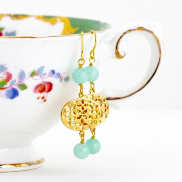 Mint Green Dangle Earrings - Jacaranda