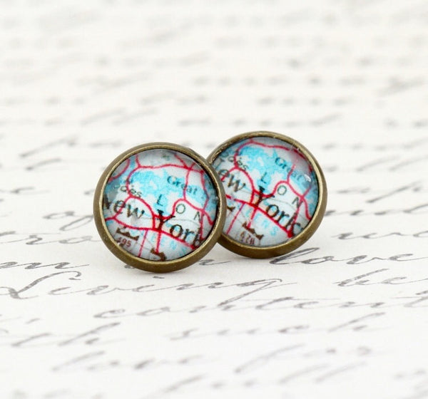New York City Earrings - Jacaranda