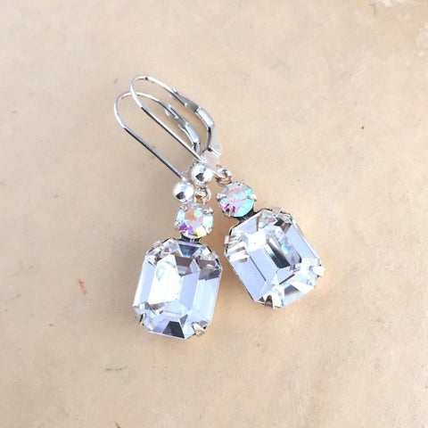 Clear Crystal Earrings - Jacaranda