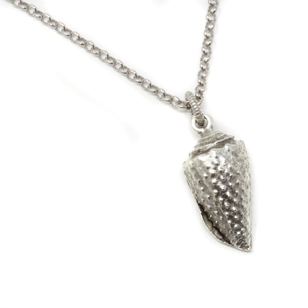Silver Conch Shell Necklace - Jacaranda