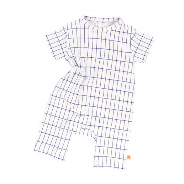 Grid Onesie - Short Sleeve