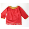 red baby holiday dress