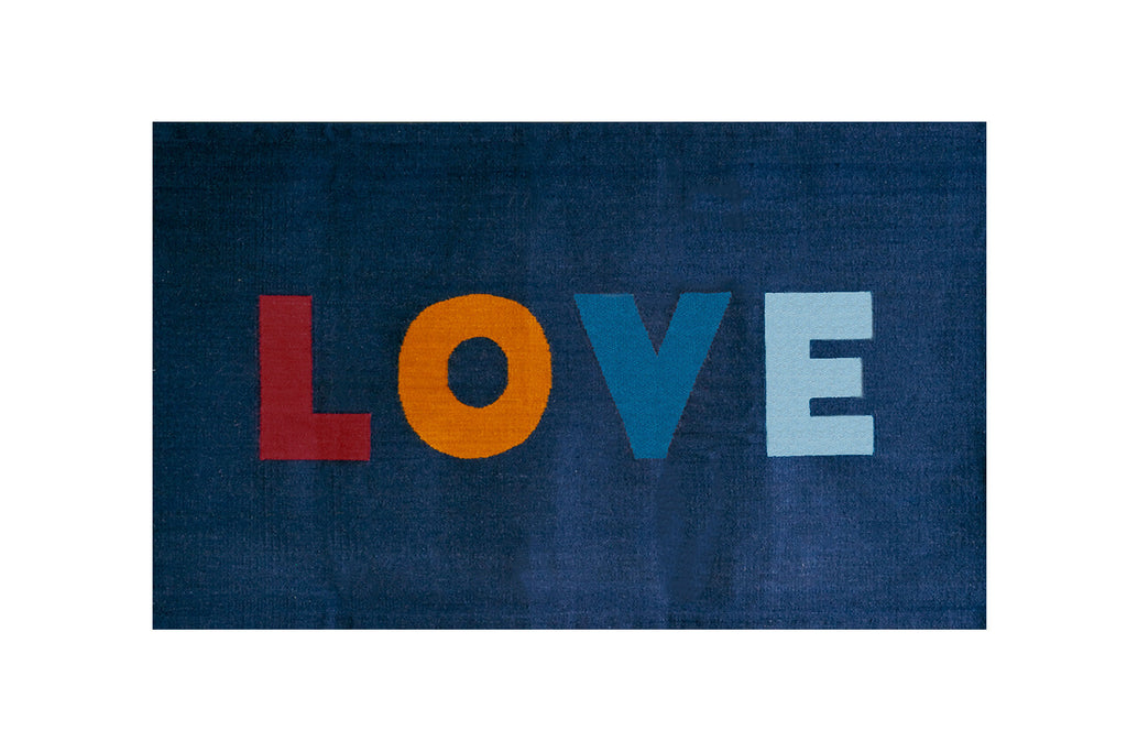 LOVE Rug- Navy/Multi