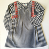 navy and red ginham girls fall dress