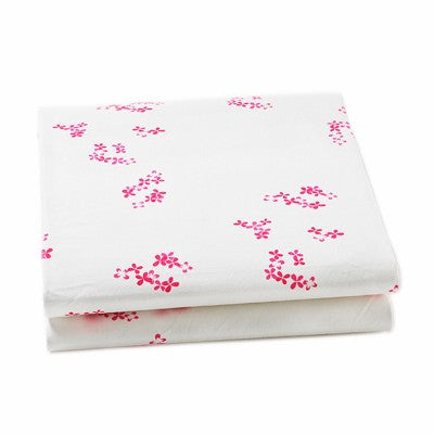 Pretty with Pink Crib Sheet