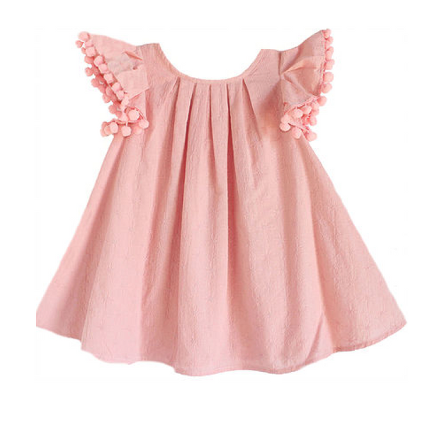 PREORDER Lindsey Berns Peachy Pom Pom Dress