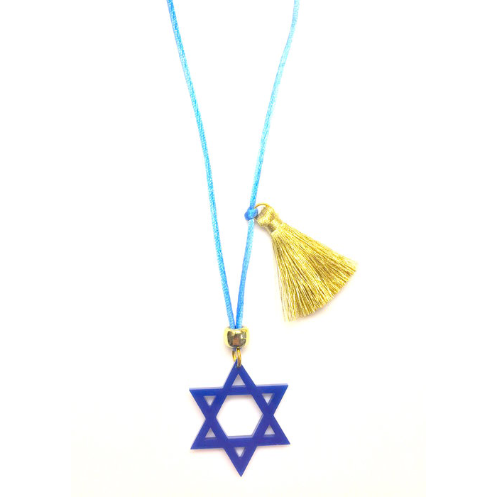 Star of David Holiday Necklace
