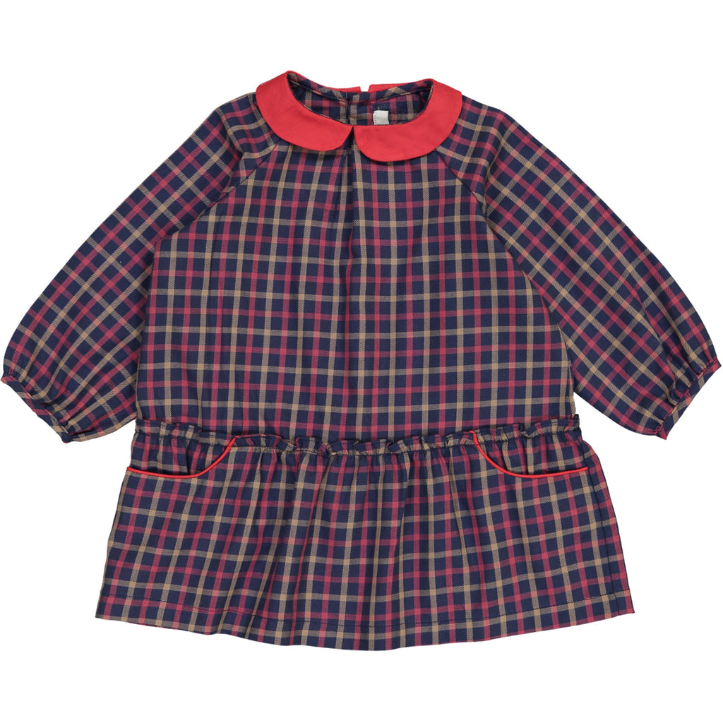 plaid baby dress by petite lucette