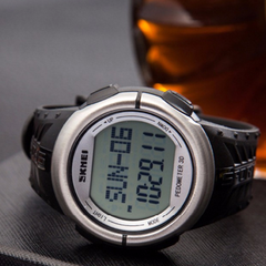 Skmei 1058 LED Sports Watch With 3D Pedometer and Heart Rate Monitor - BoardwalkBuy - 8