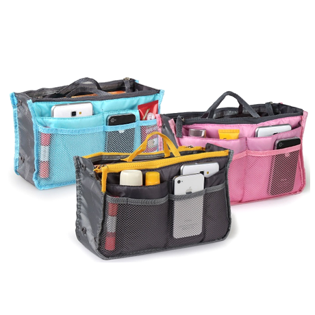 Slim Bag-in-Bag Purse Organizer - Assorted Colors