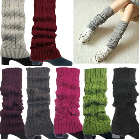 Women's Knitted Crochet Leg Warmers and Boot Covers - Assorted Colors - BoardwalkBuy - 1