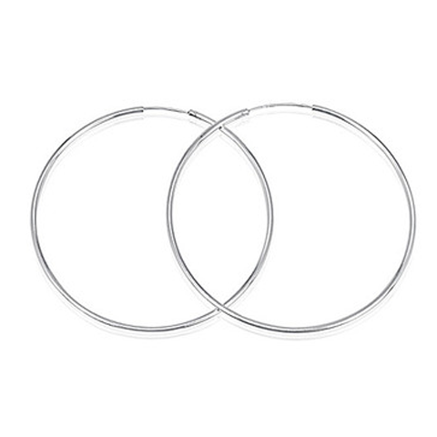 14mm Sterling Silver Hoops