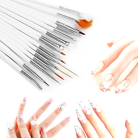 21-Piece Set: Nail Art Design Kit with Brushes & Pens