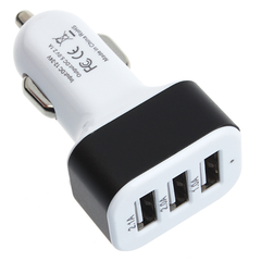 Universal 3-Port USB Car Charger Adaptor