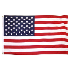 3' x 5' Polyester American Flag with Metal Grommets