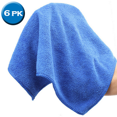 6 Pack: Microfiber Car-Drying Towels