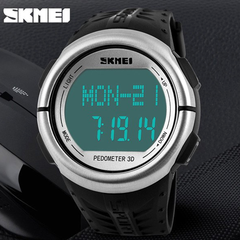 Skmei 1058 LED Sports Watch With 3D Pedometer and Heart Rate Monitor - BoardwalkBuy - 3