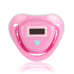 Baby Pacifier Thermometer with LCD Display - Pink or Blue