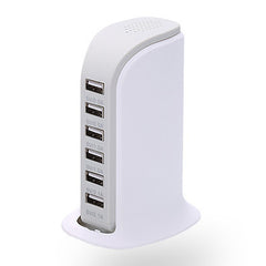 30-Watt 6-Port USB Charging Station