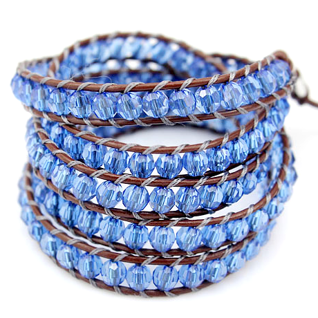Blue Twist Vintage Wrap Bracelet