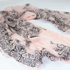 Chiffon Porcelain Style Scarf and Shawl - Assorted Colors - BoardwalkBuy - 4