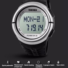 Skmei 1058 LED Sports Watch With 3D Pedometer and Heart Rate Monitor - BoardwalkBuy - 11