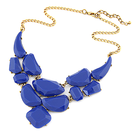 Bold Stone Statement Necklace - Assorted Colors